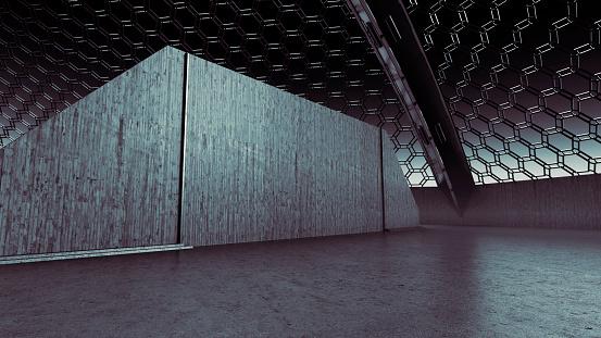 Ceiling「Futuristic arena background」:スマホ壁紙(12)