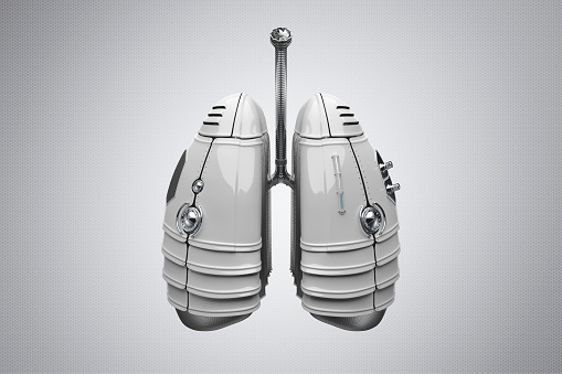 Military Land Vehicle「Futuristic, synthetic lungs made of metal and plastic」:スマホ壁紙(6)
