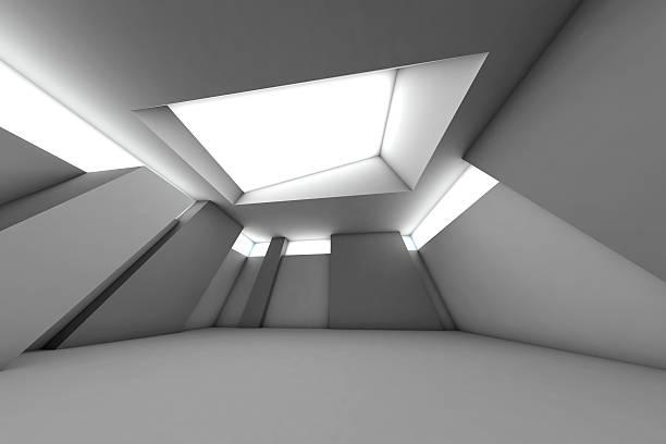 Futuristic empty room, 3D Rendering:スマホ壁紙(壁紙.com)