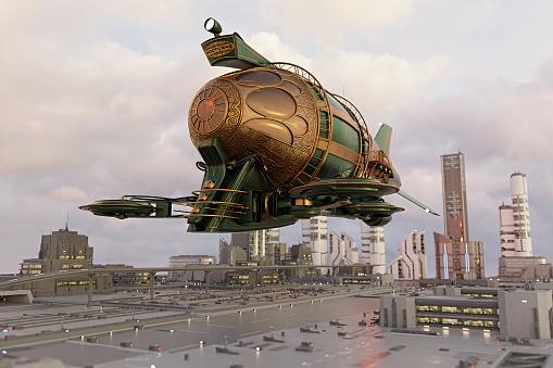 Airship「Futuristic airship」:スマホ壁紙(9)