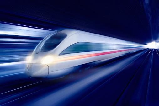 Blurred Motion「Futuristic train at speed」:スマホ壁紙(12)