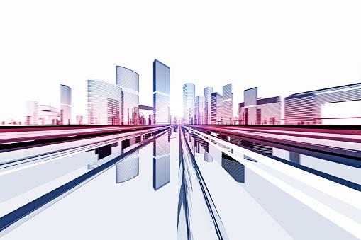 Digitally Generated Image「Futuristic city」:スマホ壁紙(7)