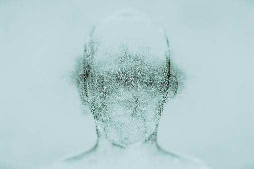 Blank Expression「Futuristic glowing AI head」:スマホ壁紙(18)