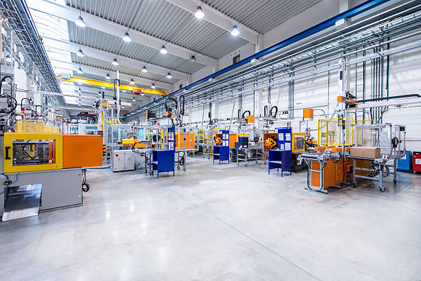 Futuristic machinery in production line:スマホ壁紙(壁紙.com)