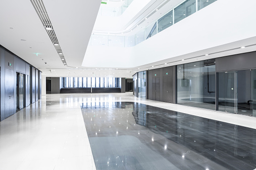 Lobby「Futuristic office building」:スマホ壁紙(12)