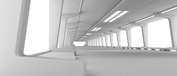Futuristic Hallway:スマホ壁紙(壁紙.com)