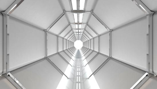 Tunnel「Futuristic Hallway」:スマホ壁紙(16)
