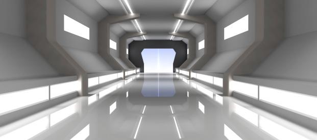 Technology「Futuristic Hallway」:スマホ壁紙(14)