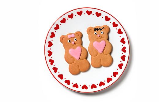 Stuffed Animals「Happy Valentines Day gingerbread couple」:スマホ壁紙(8)