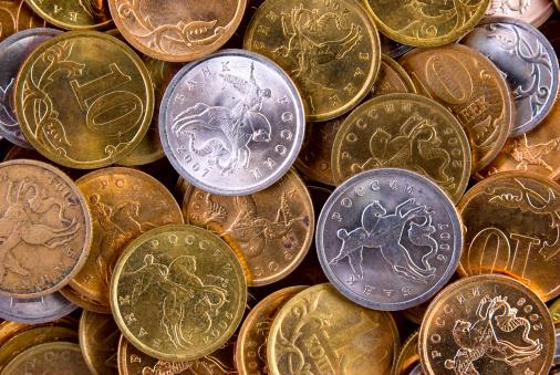 Economic fortune「coins background」:スマホ壁紙(3)