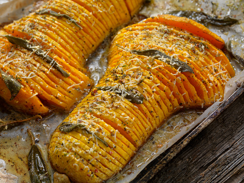 Scalloped - Pattern「Hasselback Butternut Squash with Brown Butter, Sage and Parmesan」:スマホ壁紙(3)