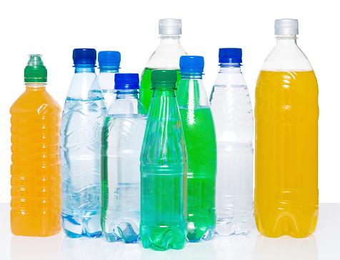 Lemon Soda「Several plastic bottles filled with various drinks」:スマホ壁紙(2)