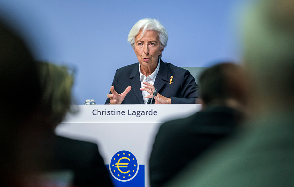 European Central Bank「Christine Lagarde Holds Press Conference Following ECB Governing Council Meeting」:写真・画像(9)[壁紙.com]