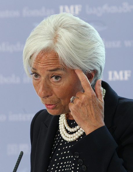 Oli Scarff「IMF Managing Director Christine Lagarde Holds A Press Conference About The State Of The UK Economy」:写真・画像(4)[壁紙.com]