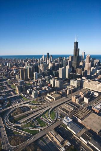 Great Lakes「Lake Michigan by Chicago skyline」:スマホ壁紙(7)