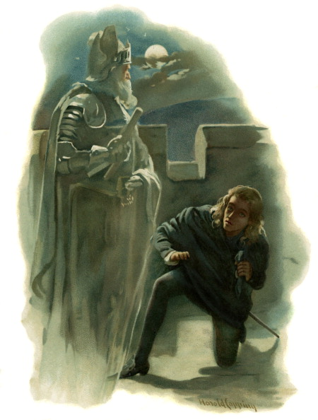 Illustration「The ghost of Hamlet's father appears to Prince Hamlet」:写真・画像(9)[壁紙.com]