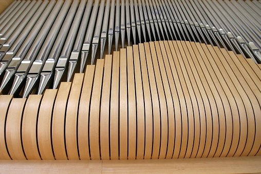 Religious Mass「wooden pipe organ close up」:スマホ壁紙(10)