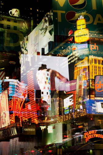 Multiple Exposure「NYC - Time Square impressions」:スマホ壁紙(7)