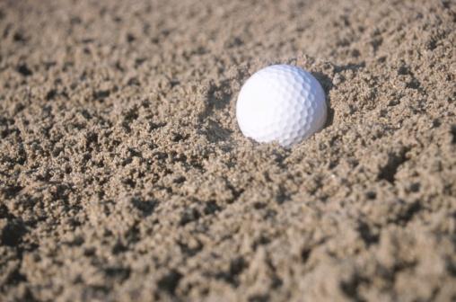 Sand Trap「Golf ball in sand trap」:スマホ壁紙(4)