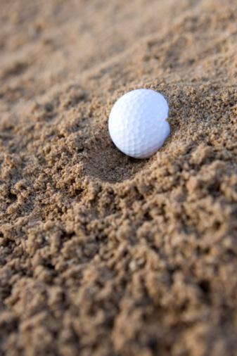 Northern Mariana Islands「Golf ball in sand, Saipan, USA 」:スマホ壁紙(6)