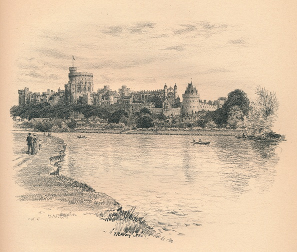 Riverbank「'Windsor Castle From The River', 1902」:写真・画像(9)[壁紙.com]