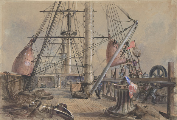 19th Century「Getting Out One Of The Great Buoys: The Deck Of The Great Eastern Looking From」:写真・画像(17)[壁紙.com]