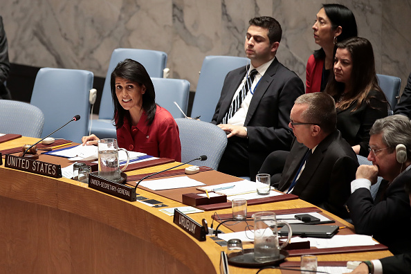 United Nations Building「United Nations Security Council Meets To Discuss Recent U.S. Airstrikes In Syria」:写真・画像(14)[壁紙.com]