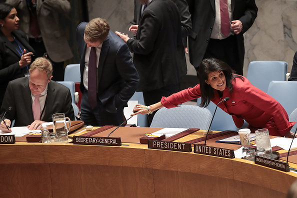 United Nations Building「United Nations Security Council Meets To Discuss Recent U.S. Airstrikes In Syria」:写真・画像(12)[壁紙.com]