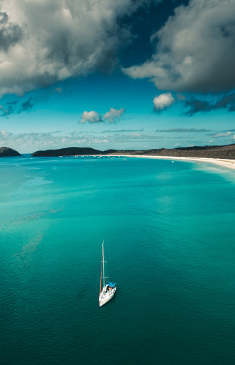 ビーチ「オーストラリア、クイーンズランド州のウィット サンデー島の航空写真」:スマホ壁紙(13)