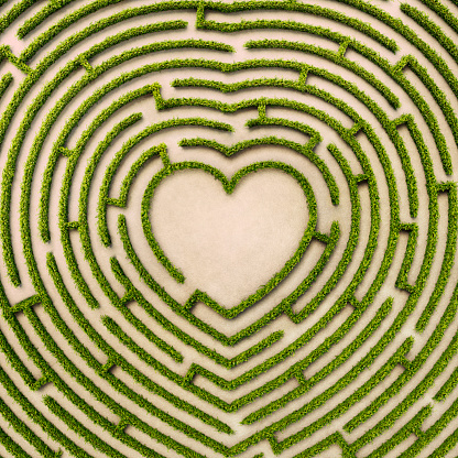 Dating「Aerial view of heart shape hedge maze」:スマホ壁紙(9)