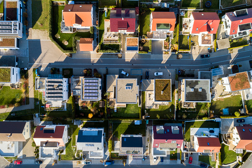 City Life「Aerial view of a new residential neighborhood」:スマホ壁紙(5)