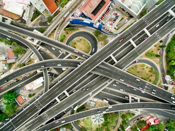 Aerial view of Mexico City highways:スマホ壁紙(壁紙.com)