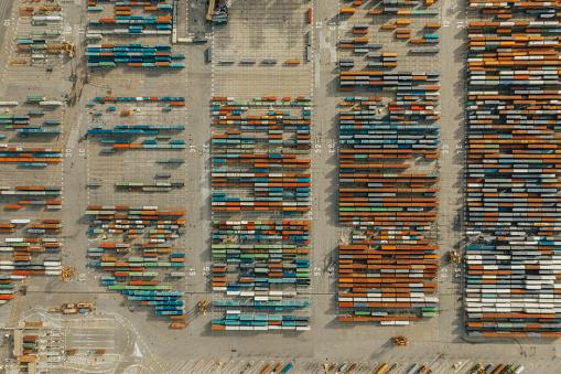 Ship「Aerial view of business port」:スマホ壁紙(11)