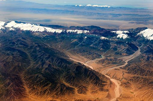 Himalayas「Aerial View of Tibet and Taklamakan Desert in China, Asia」:スマホ壁紙(17)