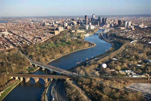 Pennsylvania「Aerial view of Upper Darby, Pennsylvania」:スマホ壁紙(6)