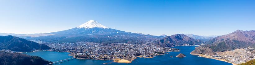 Japanese Maple「Aerial View of Fuji mountain and Kawaguchiko lake in morning, Japan」:スマホ壁紙(13)