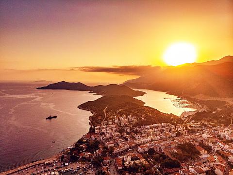 Antalya Province「Aerial View of Kaş, Antalya」:スマホ壁紙(10)