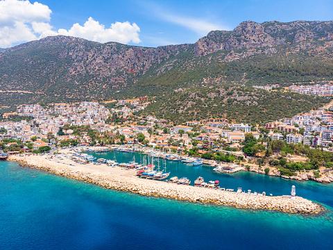 Summer Resort「Aerial View of Kaş, Antalya」:スマホ壁紙(13)