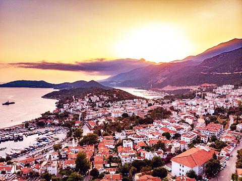 Summer Resort「Aerial View of Kaş, Antalya」:スマホ壁紙(15)