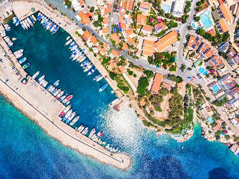 Summer Resort「Aerial View of Kaş, Antalya」:スマホ壁紙(16)