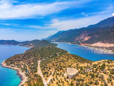 Summer Resort「Aerial View of Kaş, Antalya」:スマホ壁紙(14)