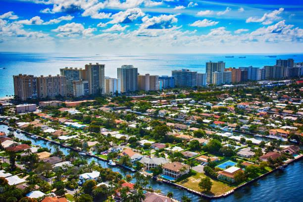 Aerial View of Pompano Beach Florida:スマホ壁紙(壁紙.com)