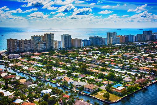 Pompano Beach「Aerial View of Pompano Beach Florida」:スマホ壁紙(5)