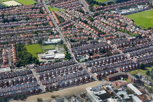 Row House「Aerial view of housing in Arthurs Hill」:スマホ壁紙(3)