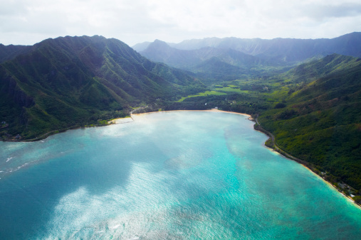 Hawaii Islands「Aerial view of Oahu」:スマホ壁紙(17)