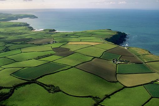 North Atlantic Ocean「Aerial View of Coastal Fields」:スマホ壁紙(18)