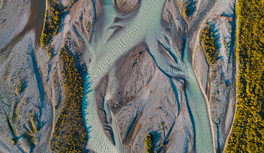 Enacting「Aerial view Waimakariri River, South Island, New Zealand.」:スマホ壁紙(4)