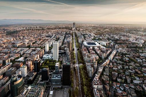 Madrid「Aerial view of Madrid, Spain」:スマホ壁紙(11)