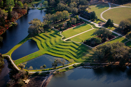 Charleston - South Carolina「Aerial View Middleton Place」:スマホ壁紙(18)
