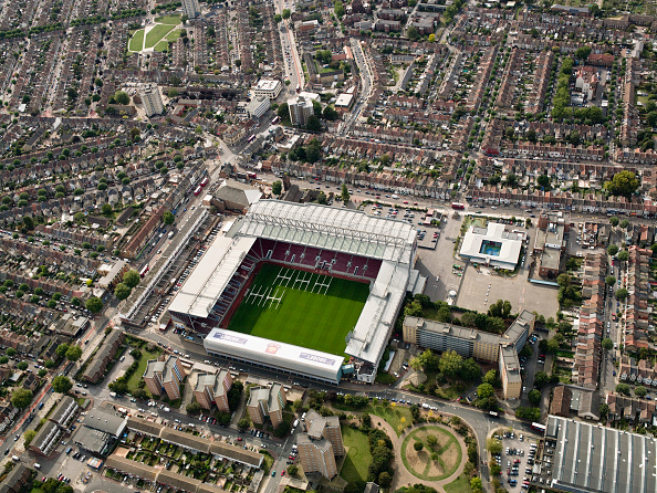 No People「Aerial view of West Ham Football Stadium, East London, UK」:写真・画像(2)[壁紙.com]